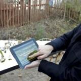 Direktør Henrik Nielsen viser den kommende attraktion i Djurs Sommerland, en ATV-rutsjebane til 70 milloner kroner frem.