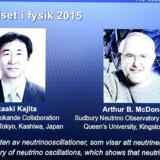 Takaaki Kajita og Arthus B. McDonald vinder Nobenprisen i fysik for deres forskning.