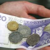 Svenske penge, sedler og mønter.