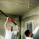 Polske håndværkere arbejder på et boligprojekt i Albertslund. Arkivfoto: Christian Als.