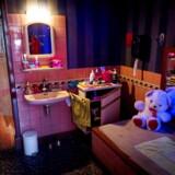 Et soveværelse i et bordel vist frem i Red Light Secrets.