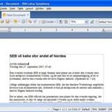 Lotus Symphony er en videreudvikling af den ligeledes gratis OpenOffice.org-kontorpakke med tekstbehandling, regneark og præsentationsprogram.