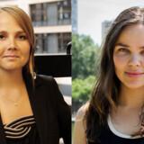 SFs europaparlamentariker Emilie Turunen (tv.) og SFU-formand Gry Möger Poulsen ærgrer sig over, at regeringen dropper at indføre et forbud mod købesex.