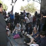 Advokat Lisa Damiani formidler familiens synspunkter til pressen i San Diego.