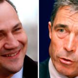 Polens udenrigsminister, Radoslaw Sikorski, og Danmarks statsminister, Anders Fogh Rasmussen. Begge nævnes som kandidater til posten som Natos generalsekretær