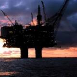 EU undersøger, om der er sket lyssky ting i blandt andet Statoil. Her ses den norske koncerns Statfjord A-olieplatform.