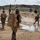 Danske soldater på patrulje i Green zone, nord for Gereshk i Afghanistan.