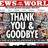 News of The World takker af med minder og en undskyldning.