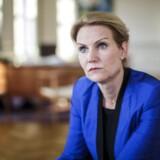 Statsminister Helle Thorning-Schmidt (S) udtaler sig om et eventuelt indgreb i Syrien tirsdag aften den 27. august 2013 i Statsministeriet.