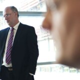 Lundbecks adm. direktør Ulf Wiinberg (tv.) og økonomidirektør Anders Gøtzsche. Jonas Vandall Ørtvig