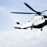Agusta Westland-helikopteren, der transporterer Maersk-ansatte for Bel Air Aviation.