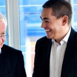 DRs bestyrelsesformand Michael Christiansen og generaldirektør Kenneth Plummer skiller sig af med 40 chefer. Foto: Keld Navntoft