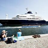Medstifter af Microsoft Paul Allens yacht Octopus ved Langelinie i København. Pris: 200 millioner dollar.