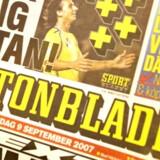 Aftonbladet er en af de skandinaviske aviser, som stiger i pris. Foto. Claus Fisker