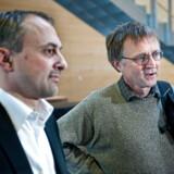 Anders Bondo Christensen (th) og Michael Ziegler er her tæt på hinanden. Men i forhandlingerne er de langt fra hinanden.