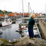 Bornholm - her havnen i Gudhjem - er et af de steder, hvor boligpriserne har modstået de store prisfald i resten af landet.