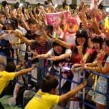 Folk jubler i Tokyo, da det står klart, at IOC udnævner Tokyo til værtsby for OL i 2020.