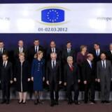 25 ud af 27 EU-lande skrev fredag formiddag under på finanspagten i Bruxelles. Foto fra torsdag.