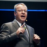 Nokia Chief Executive Stephen Elop speaks during the ECT Forum technology fair in Helsinki October 4, 2011. On the day that Apple launches the fifth generation of its ubiquitous iPhone, the once mighty Nokia is still weeks away from mounting a fightback. Elop, chief executive of the Finnish mobile phone maker, on Tuesday promised to unveil its first Windows-based smartphones this quarter but it remains to be seen whether the they will start shipping in time for Christmas. REUTERS/Jarno Mela/Lehtikuva (FINLAND - Tags: BUSINESS PROFILE TELECOMS) THIS IMAGE HAS BEEN SUPPLIED BY A THIRD PARTY. IT IS DISTRIBUTED, EXACTLY AS RECEIVED BY REUTERS, AS A SERVICE TO CLIENTS. NO THIRD PARTY SALES. NOT FOR USE BY REUTERS THIRD PARTY DISTRIBUTORS. FINLAND OUT. NO COMMERCIAL OR EDITORIAL SALES IN FINLAND