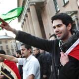 Demonstrationer foran Byretten i København tirsdag d.10.januar 2012, hvor dommen i straffesagen mod den kurdiske tv-station ROJ TV afsiges.