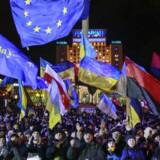 Lokalt politi beskyldes for at angribe journalister i forbindelse med de herskende demonstrationer i Ukraine.