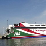 Kattegat-rutens katameran fik kort tid på Kattegat.