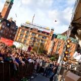 Amnesty International kæmper for at de afviste irakere kan blive i Danmark. Her ved en støttekoncert i København.