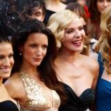 Sarah Jessica-Parker, Kristin Davis, Kim Cattrall og Cynthia Nixon til premieren på Sex and the City 2 i London 27. maj.