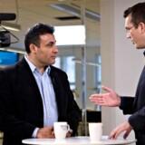 Naser Khader bliver efter sin udmelding interviewet af B.T. tvs Jeppe Nybroe.