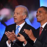 Joseph Biden og Barack Obama håber at afløse George W. Bush og Dick Cheney i Det Hvide Hus.