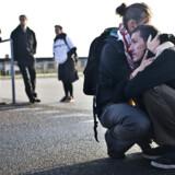 Demonstranterne har lige fået at vide, at irakerne har forladt landet fra Odense Lufthavn.