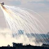 Det er billeder som dette, der har fået kritikere til at anklage Israel for ulovligt at bruge fosforbomber.