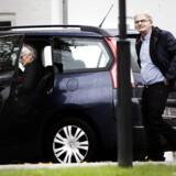 Holger K NIelsen og SF's nye formand forlader Marienborg
