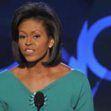 Michelle Obamas mand, Barack, holder sin tale på torsdag.