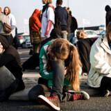 Skuffede demonstranter i Roskilde efter udsendelsen af irakerne i Odense. Nye demonstranter på vej.