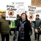 Den 18. december demonstrerede tyske borgere mod Dongs planer om et stenkulskraftværk.