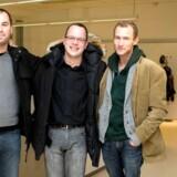 Årets vindere af Cavlingprisen. Fra venstre: fotograf Erik Refner  journalist Jesper Woldenhof, Morten Crone og Morten Frich.