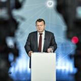 Statsminister Lars Løkke Rasmussen (V) præsenterede regeringens »Strategi for Danmarks digitale vækst« på et pressemøde i Herning tirsdag. Erhvervslivet glæder sig over, at der endelig tages initativ til at sætte gang i IT-udviklingen. Foto: Henning Bagger