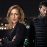 """""""The Fall"""", sæson 3 dykker ned i fortiden: Stella Gibson (Gillian Anderson) og Paul Spector (Jamie Denton). Foto: PR."""