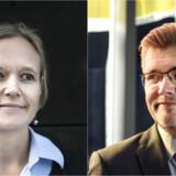 Cecilia Lonning-Skovgaard (V) forsøger at udfordre overborgmester Frank Jensen (S) på skattepolitikken frem mod efterårets kommunalvalg. Foto: Niels Ahlmann Olsen og Malene Anthony Nielsen