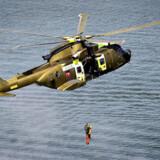 Arkivfoto: En helikopter har fløjet den ene person til Odense Universitetshospital.