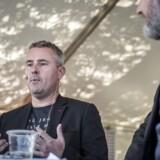 Henrik Sass Larsen (S) i debat med redaktør Mads Kastrup fra Ekstra Bladet til Folkemødet i Allinge på Bornholm.
