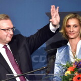 CDU-spidskandidat Frank Henkel (tv) kaldte umiddelbart efter lukningen af valgstederne resultatet for »absolut utilfredsstillende« og skød skylden for det ringe resultat på interne stridigheder om flygtningepolitikken i den tyske forbundsregering.