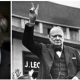 »Vi får både historien om Churchills umådeholdne livsstil, temperament, kampvilje og enestående tale- og replikkunst, der medvirkede afgørende til den britiske fasthed, da det så mest håbløst ud,« skriver Per Stig Møller om »En lille bog om Churchill«. Foto: Thomas Lekfeldt og AFP