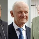 Der står tre gange P i spidsen for Volkswagen. Bestyrelsesformand Pötsch (tv.), tidl. formand og storaktionær Ferdinand Piëch, samt storaktionær Wolfgang Porsche (t.h.).