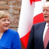 Foto med Merkel og Trump fra 26. maj, 2017 / AFP PHOTO / POOL / PHILIPPE WOJAZER / ALTERNATIVE CROP