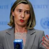 »Vi er alle enige om, at alle parter overholder aftalen,« siger EU's udenrigschef, Federica Mogherini, efter et møde onsdag mellem parterne i FN-bygningen i New York.