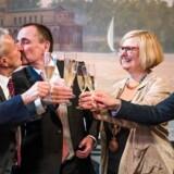 Bodo Mende og Karl Kreile mødte første gang hinanden til en fødselsdagsfest i 1979. / AFP PHOTO / Odd ANDERSEN