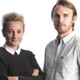 Podcast-vært Ane Cortzen sammen med Stian Olesen, CEO i Too Good To Go.