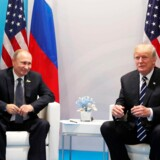 epa06073373 Russian President Vladimir Putin (L) and US President Donald J. Trump (R) meet on the sidelines of the G20 summit in Hamburg, Germany, 07 July 2017. The G20 Summit (or G-20 or Group of Twenty) is an international forum for governments from 20 major economies. The summit is taking place in Hamburg from 07 to 08 July 2017. EPA/MICHAEL KLIMENTYEV / SPUTNIK / KREMLIN POOL / POOL MANDATORY CREDIT